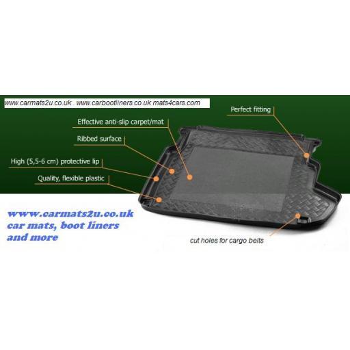 Citroen C5 Estate (2001-2008) boot liner mat