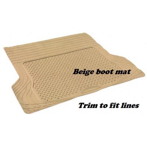 Boot liner mat Beige