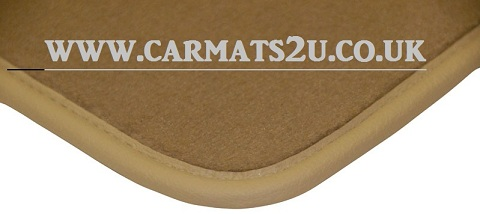 Beige car floor mats