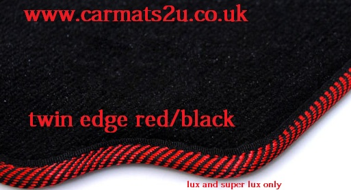 Car mats red edged