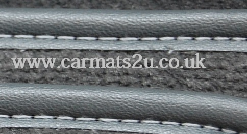 grey leather edged mats