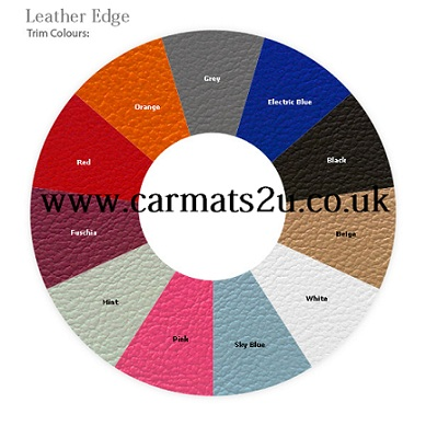 leather edged car mats
